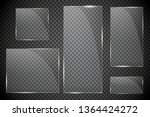 glass plates are installed.... | Shutterstock .eps vector #1364424272