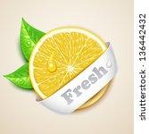 fresh lemon - stock vector