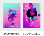 abstract gradient poster and... | Shutterstock .eps vector #1364426312
