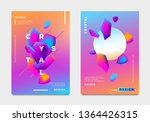abstract gradient poster and... | Shutterstock .eps vector #1364426315