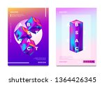 abstract gradient poster and... | Shutterstock .eps vector #1364426345