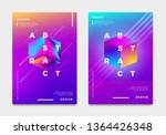 abstract gradient poster and... | Shutterstock .eps vector #1364426348