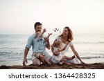a family with two toddler... | Shutterstock . vector #1364428325