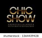 Vector Golden Poster Chic Show...