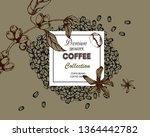coffee illustration on label... | Shutterstock .eps vector #1364442782