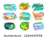 summer big sale banners set....   Shutterstock .eps vector #1364443958