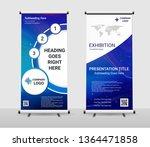 vertical roll up banner  ... | Shutterstock .eps vector #1364471858