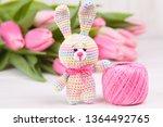 crocheted rabbit on the... | Shutterstock . vector #1364492765