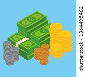 concept of big money. big pile... | Shutterstock .eps vector #1364495462