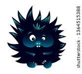 neon blue and black spiky...   Shutterstock .eps vector #1364515388