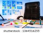 ux ui designer workplace. web...