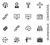 seo   internet marketing icons  ... | Shutterstock .eps vector #136452656