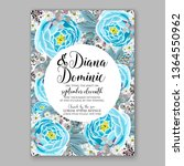 wedding invitation peony rose... | Shutterstock .eps vector #1364550962