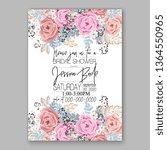 wedding invitation peony rose... | Shutterstock .eps vector #1364550965