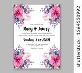 wedding invitation peony rose... | Shutterstock .eps vector #1364550992
