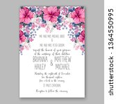 wedding invitation peony rose... | Shutterstock .eps vector #1364550995