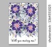 wedding invitation peony rose... | Shutterstock .eps vector #1364551025
