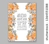 wedding invitation peony rose... | Shutterstock .eps vector #1364551088