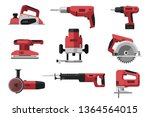 power electric tools set in... | Shutterstock .eps vector #1364564015