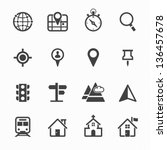 map icons and location icons... | Shutterstock .eps vector #136457678