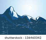 summits mountains   | Shutterstock .eps vector #136460342