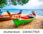 Blurred Fisherman Boats Sand Beach - Fine Art prints