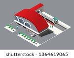 train station isometric | Shutterstock .eps vector #1364619065