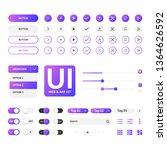 ui kit web   application violet ...