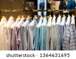 interior of clothes store | Shutterstock . vector #1364631695