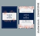 wedding invitation card... | Shutterstock .eps vector #1364693948