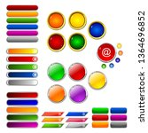 set of colored buttons for the...