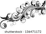 diagonal ornamental design | Shutterstock .eps vector #136471172