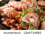 korean traditional food in a... | Shutterstock . vector #1364714882