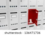 concept image with one open... | Shutterstock . vector #136471736
