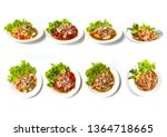 Collection Set Of Spicy Salad ...