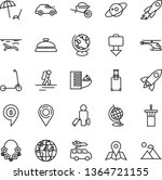 thin line vector icon set  ... | Shutterstock .eps vector #1364721155