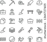 thin line vector icon set  ... | Shutterstock .eps vector #1364727605