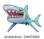shark smile | Shutterstock .eps vector #136473002