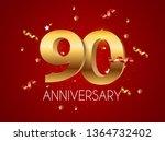 template logo 90 years... | Shutterstock . vector #1364732402