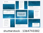 big set of vector templates for ... | Shutterstock .eps vector #1364743382