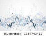 stock market or forex trading... | Shutterstock .eps vector #1364743412