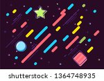 multicolor shapes cartoon... | Shutterstock .eps vector #1364748935