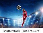 little soccer champion. mixed...   Shutterstock . vector #1364753675
