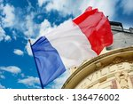 French Flag Waving Over One...