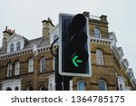 Traffic light of turn left sign ...