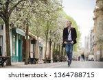 businessman on daily commute... | Shutterstock . vector #1364788715