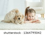 child with a dog  | Shutterstock . vector #1364795042
