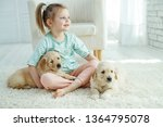child with a dog  | Shutterstock . vector #1364795078