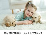 child with a dog  | Shutterstock . vector #1364795105
