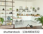 spacious studio apartment... | Shutterstock . vector #1364806532